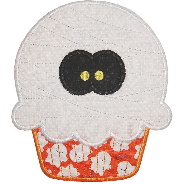 Mummy Cupcake Machine Embroidery Design