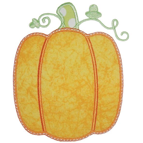 Simple Pumpkin Machine Embroidery Design