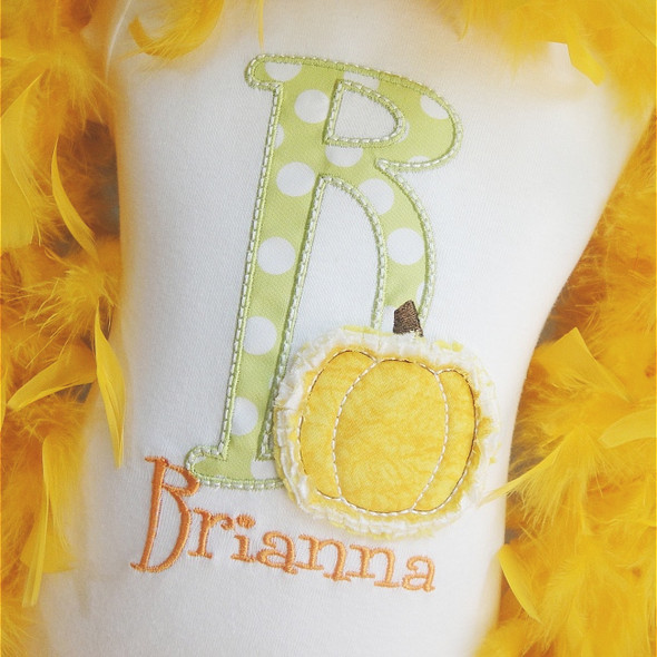 Raggy Pumpkin Alpha Machine Embroidery Design