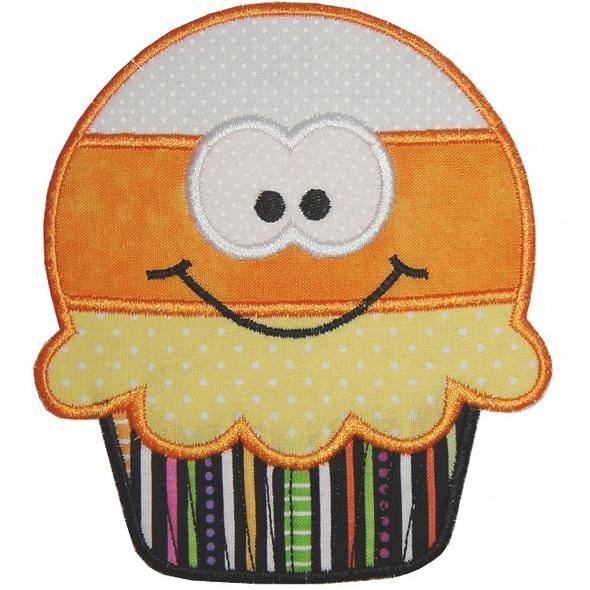 Candy Corn Cupcake Machine Embroidery Design
