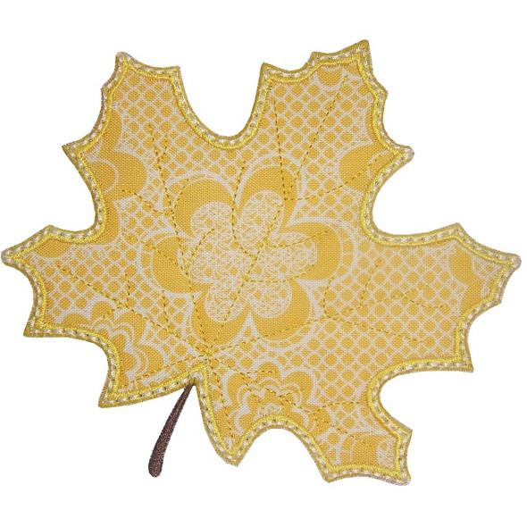 Fall Leaf Applique Machine Embroidery Design