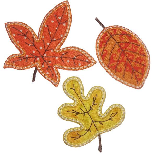 3 Leaves Applique Machine Embroidery Design