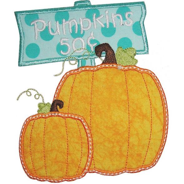 50 Cent Pumpkins Machine Embroidery Design