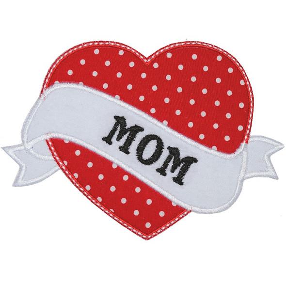 Mom Tattoo Applique Machine Embroidery Design