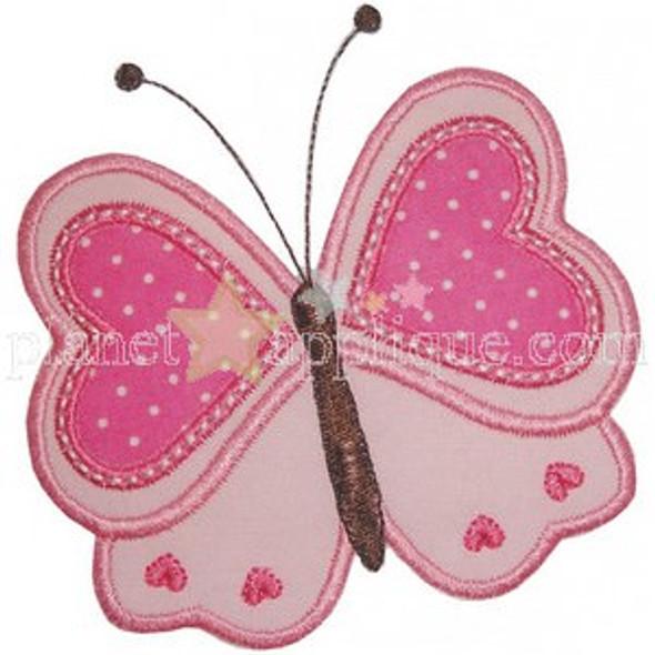 Valentine Butterfly Machine Embroidery Design