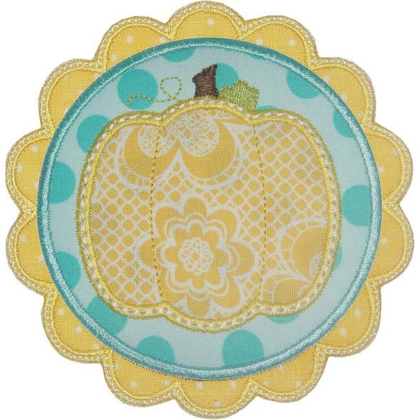 Pumpkin Patch Applique Machine Embroidery Design