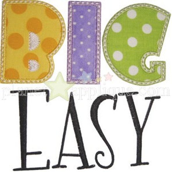 Big Easy Applique Machine Embroidery Design