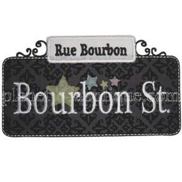 Bourbon Street Applique Machine Embroidery Design