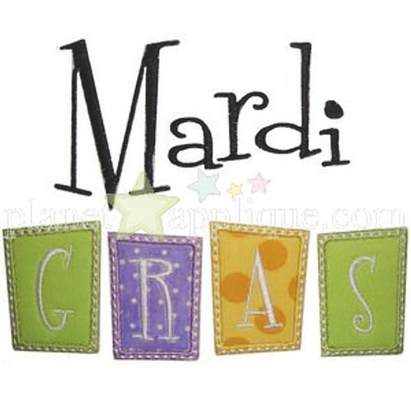 Mardi Gras Applique Machine Embroidery Design