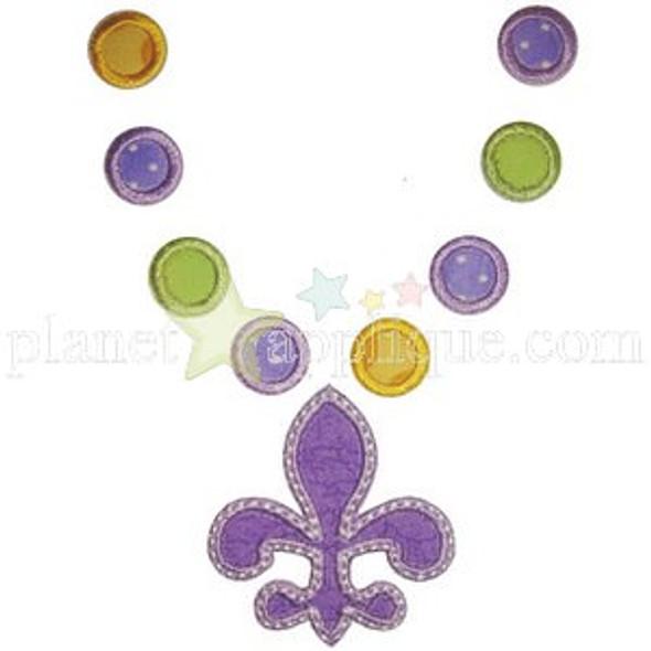 Mardi Gras Necklace Machine Embroidery Design