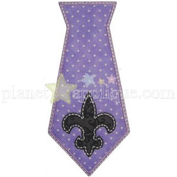 Mardi Gras Tie Applique Machine Embroidery Design