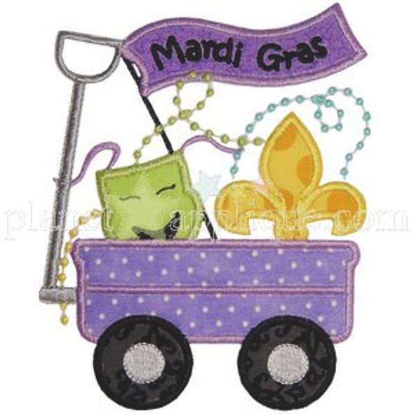 Mardi Gras Wagon Machine Embroidery Design