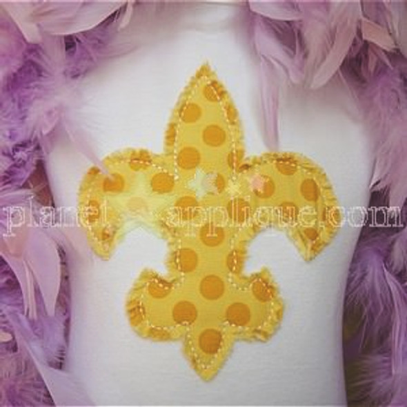 Shabby Fleur de lis Machine Embroidery Design
