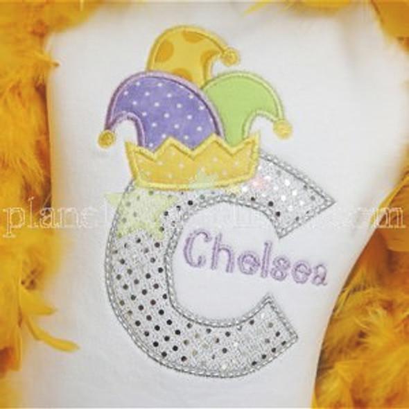 Jester Hat Alpha Machine Embroidery Design