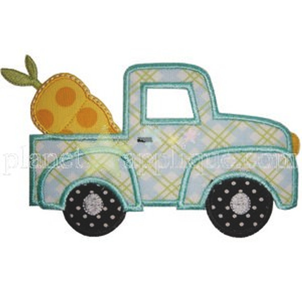 Truck and Carrot Machine Embroidery Design