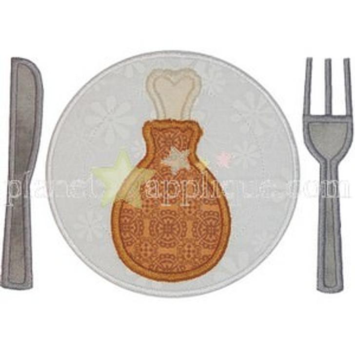 Turkey Plate Applique