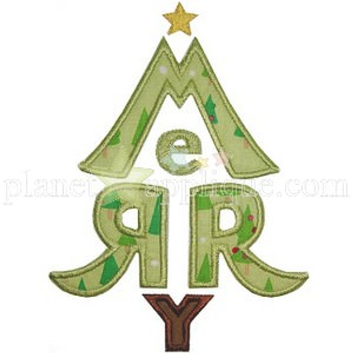 Merry Tree Applique