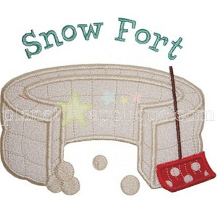 Snow Fort Applique