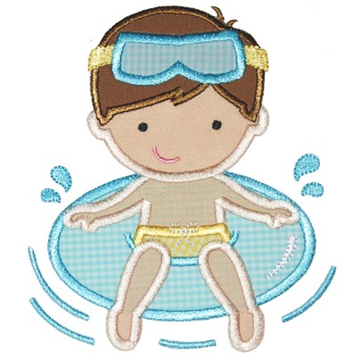 Pool Boy Applique