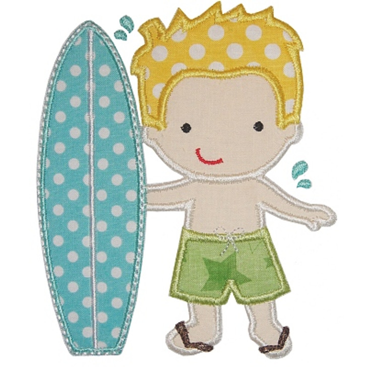 Surfer Boy Applique