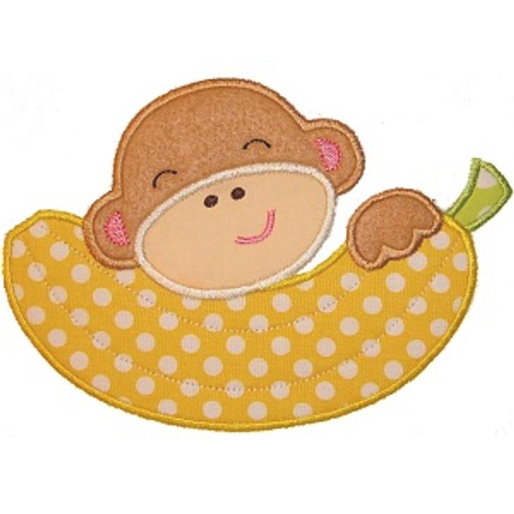 Banana Monkey Applique