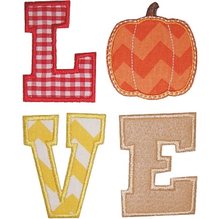 Pumpkin Love Applique