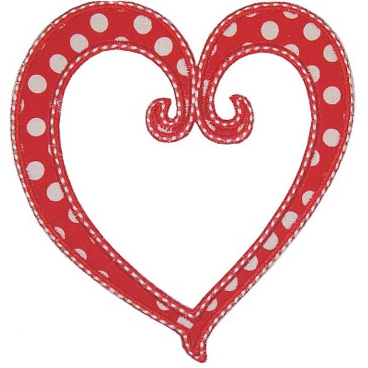 Scroll Heart Applique