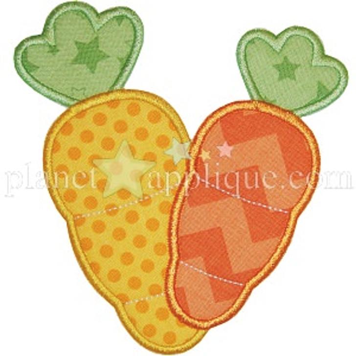 2 Carrots Applique