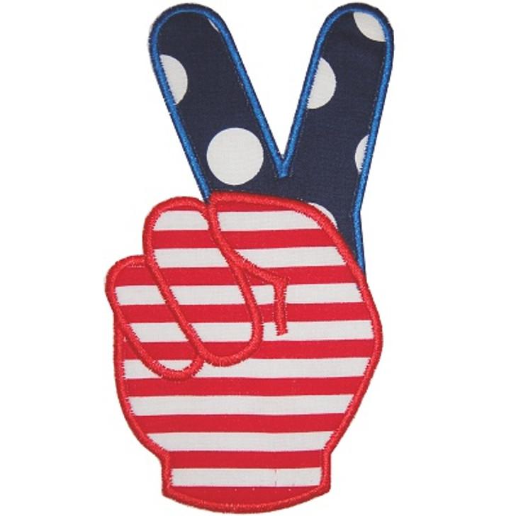 Flag Fingers Applique