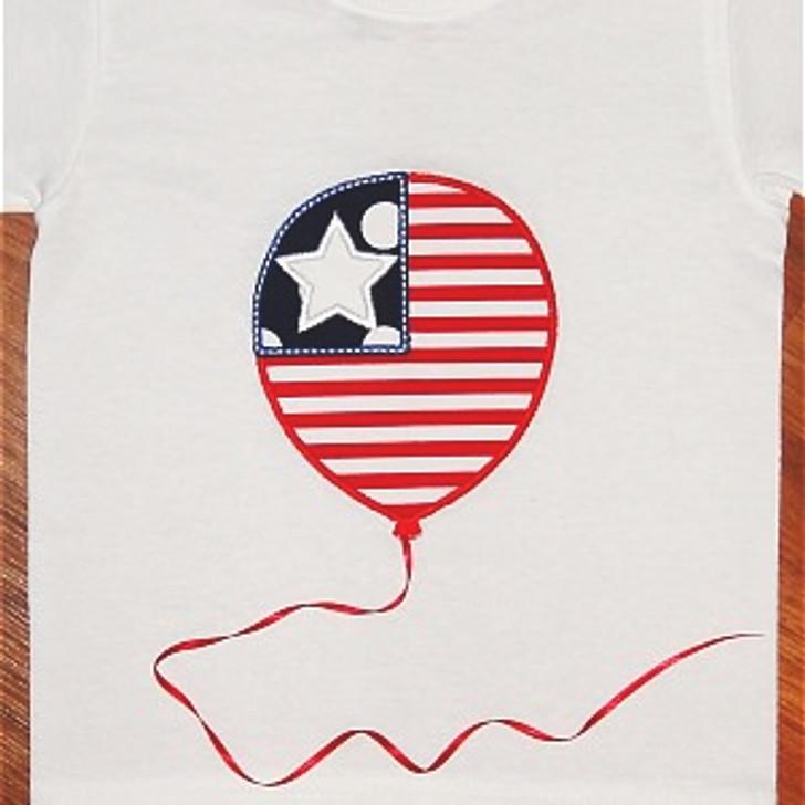 Flag Balloon Applique