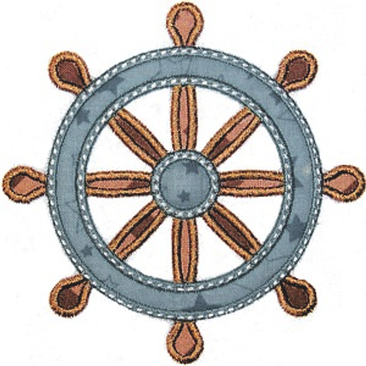 Ship Wheel Applique