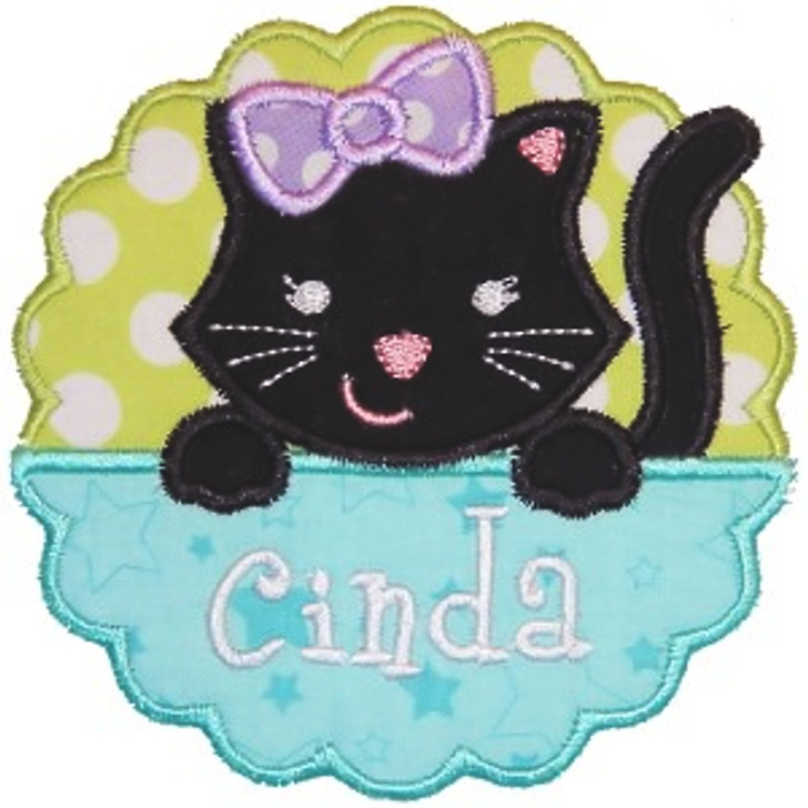 Kitty Patch Applique