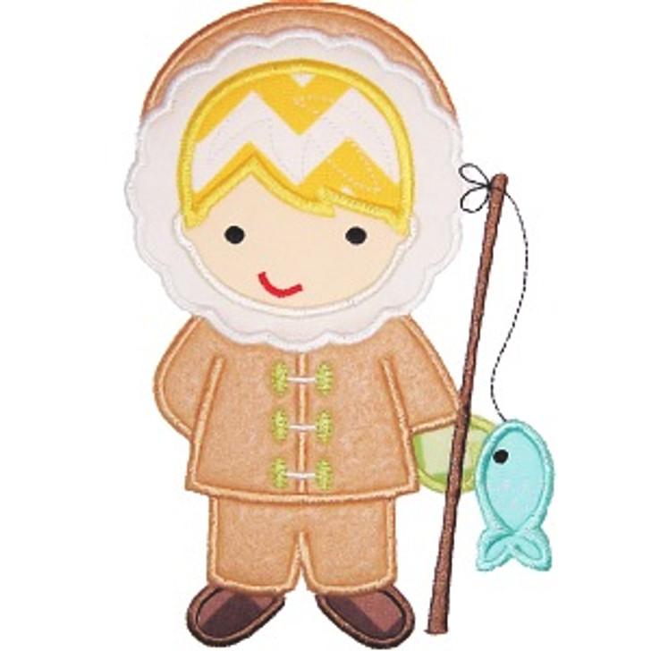 Eskimo Boy Applique