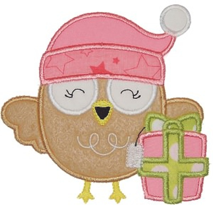 Owl and Gift Applique