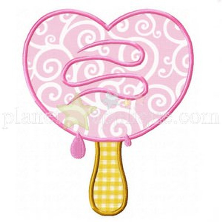 Ice Cream Heart Applique
