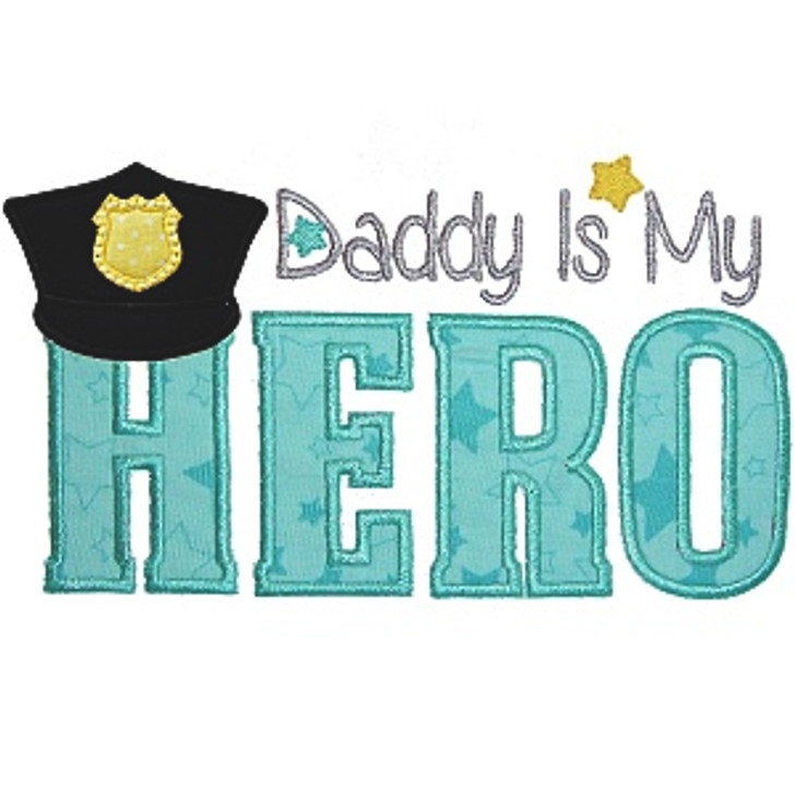 Police Dad Applique
