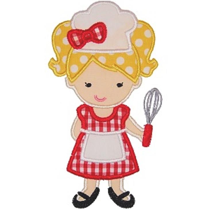 Girly Chef Applique