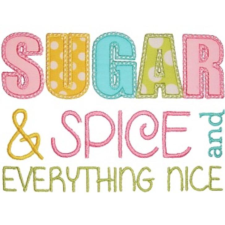 Sugar and Spice Applique