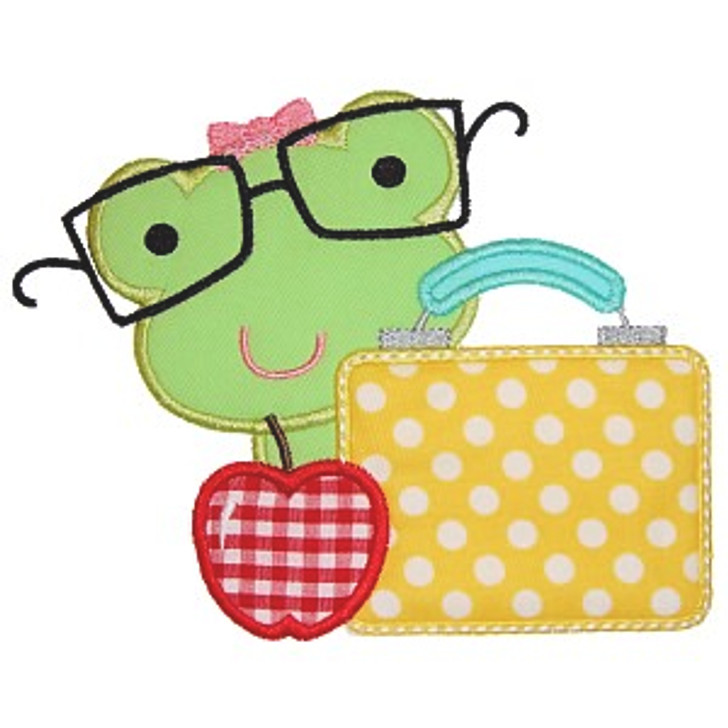 Lunch Frog Applique
