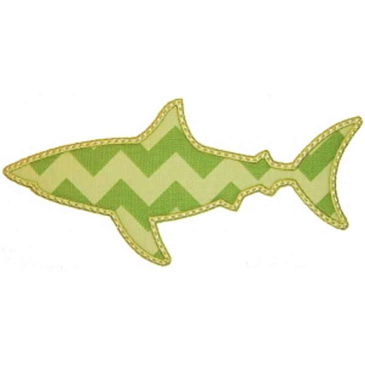 Shark Silhouette Applique