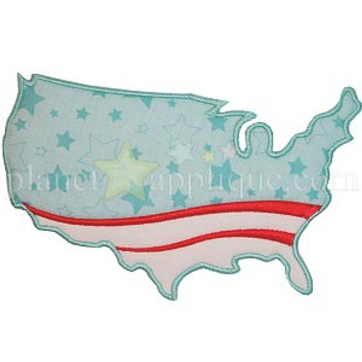 Red White Blue USA