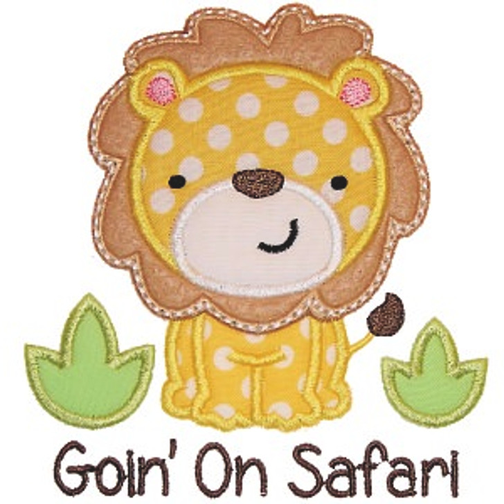 Lion Safari Applique