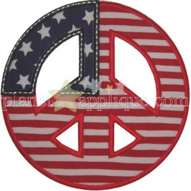 Peace Flag Applique