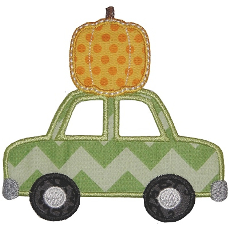 Pumpkin and Car Applique