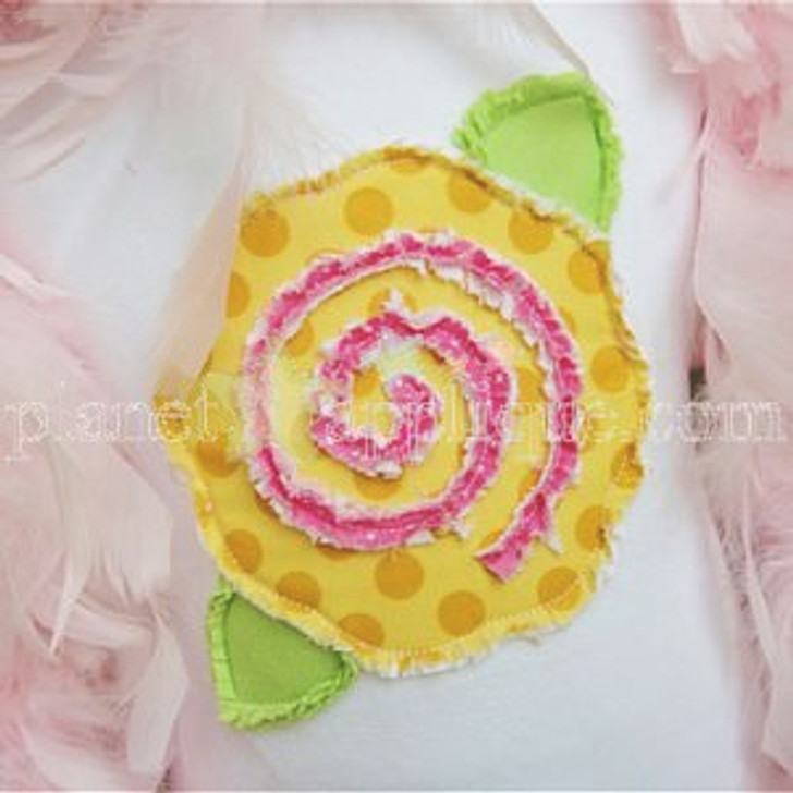Shabby Rose Applique