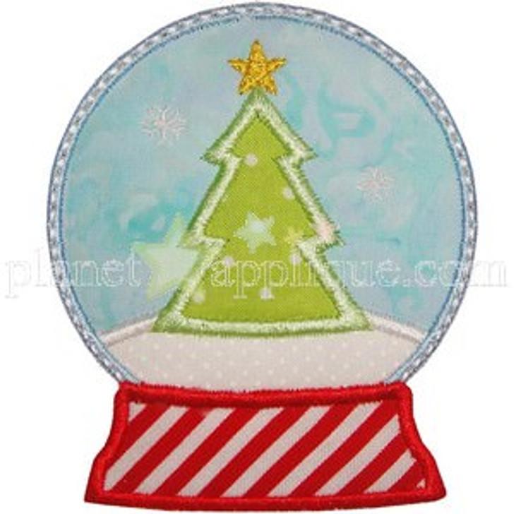 Snow Globe Applique