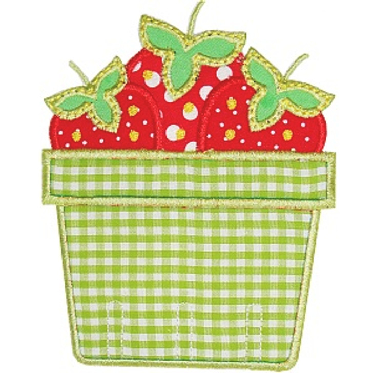 Strawberry Basket Applique