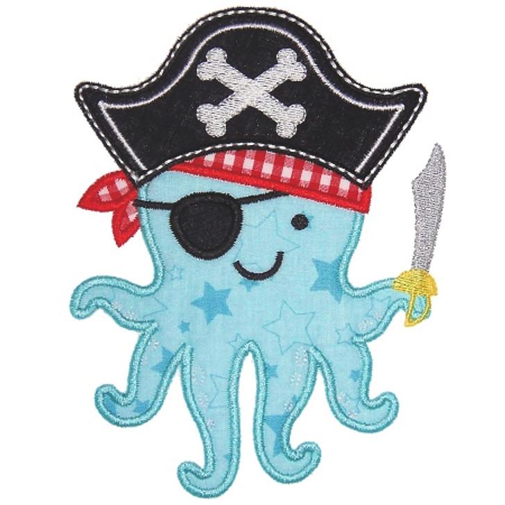 Octopus Pirate Applique