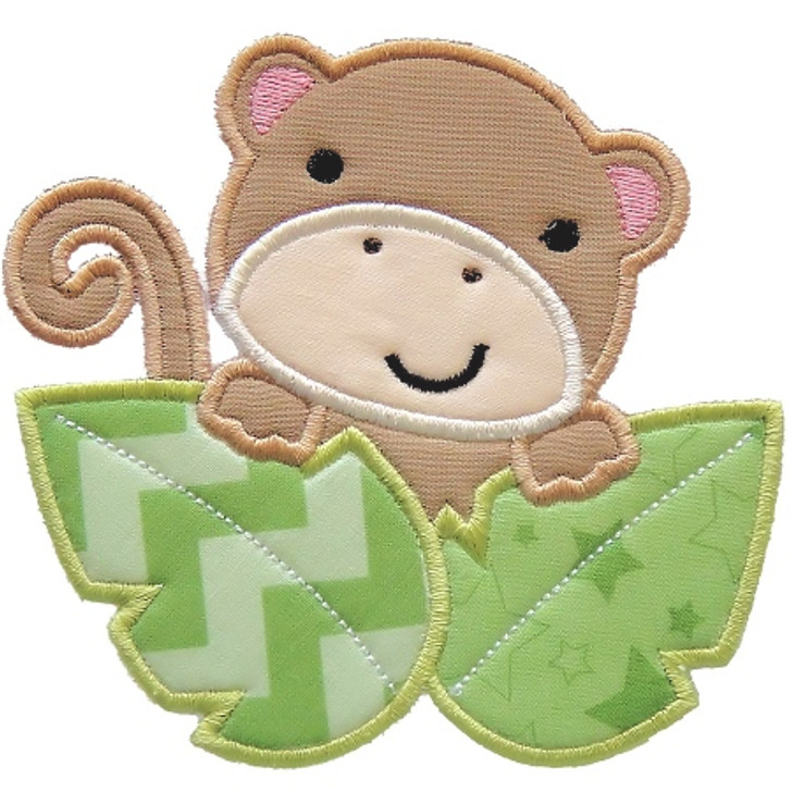 Safari Monkey Applique
