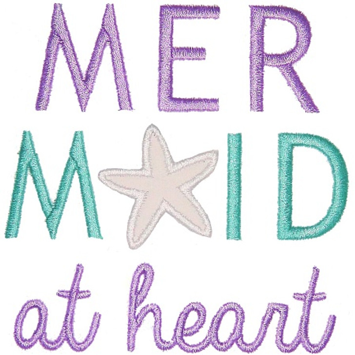 Mermaid Heart Applique